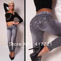 Free shipping ML7543 New Arrival Mix Different Model Seamless Jacquard Strech Jeans Tatoo Graffiti Leggings