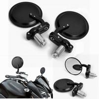 """Motorcycle Mirror moto bike Black Billet Bar End Mirrors 7/8"""" Rearview Mirror Rear-View Mirrors 2 pieces Free Shipping"""