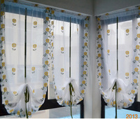 85*180cm White embroidered    short  hydrowave shalian  the finished  roman blinds curtain