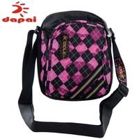 2141 print small bags male women's carry bag plaid messenger bag travel bag