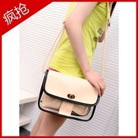 Women's cross-body handbag small transparent school bag casual bag women's brief shoulder bag travel backpack