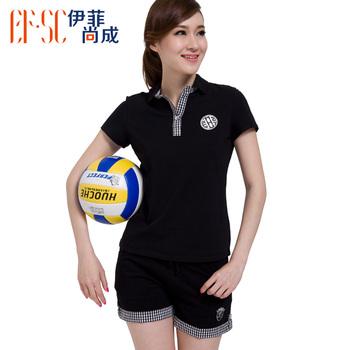 free shipping 2013 summer new arrival polo shirt turn-down collar casual t-shirt shorts tennis shirt sports set female