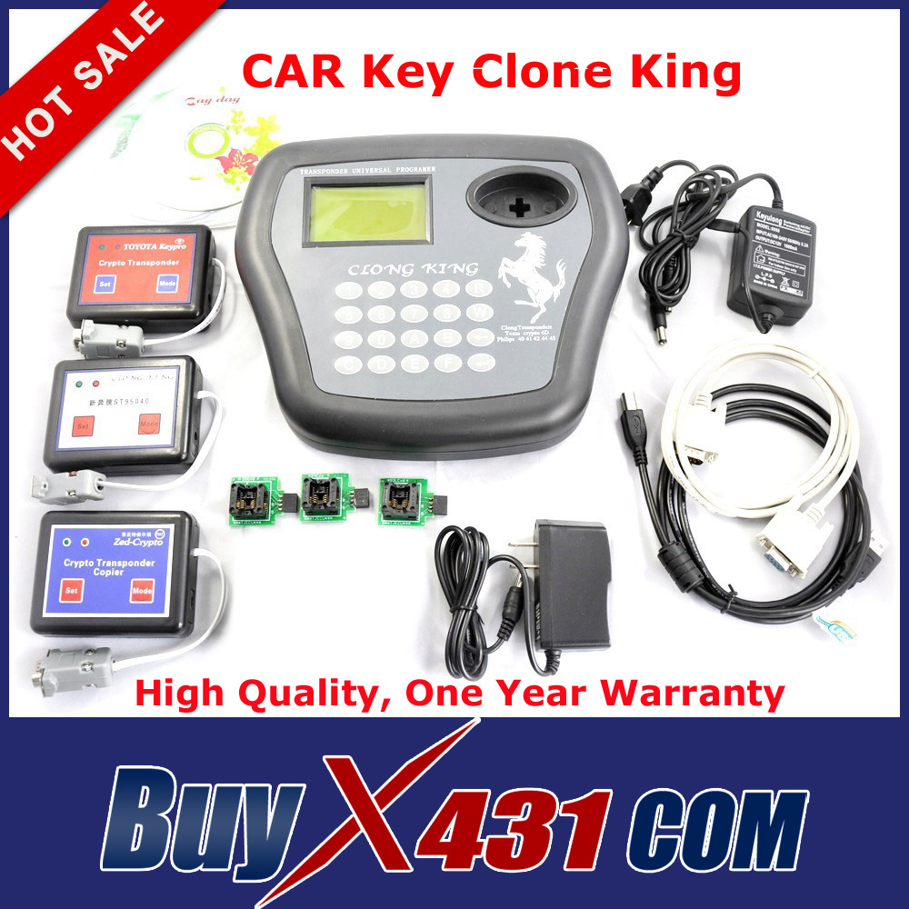 High Quality CAR Key Clone King 4D Transponder Chip Programmer Auto Key Maker Key Copier Tool + DHL Free Shipping(China (Mainland))