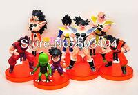 Free Shipping 1set Dragon ball z figures 28th Goku figure chidren toy Christmas gift (7pcs/set)