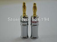 Free Shipping 24K Gold Plated Nakamichi Banana Plug Connector 12pieces per lot