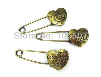 5PCS Copper Alloy romantic lovers' pin brooch heart brooch high quanlity,hot sell free shipping wholesale and retail