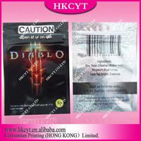 Caution Diablo 4G Mylar Herbal Potpourri Bags