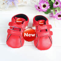 wholesale girl red shoes Baby's shoe baby shoes kid 6pairs/lot kid infant first walkers free shipping 3sizes