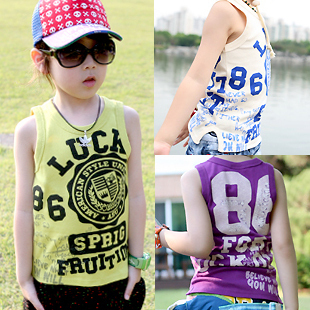 Free shipping han edition new boy children summer wear vest(China (Mainland))