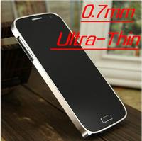 0.7mm Ultra thin cross Aluminum metal bumper case for Samsung Galaxy S4 SIV i9500,MOQ:1pcs,Free Shipping,B0137