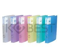 Transparent kobest1.5 multicolour folder 2 d type folder transparent folder punch file folder