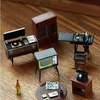 Retro Japanese Style Furniture Creative fridge magnet Cartoon fridge magnet Telephone TV benchresin magnets 1pcs /lot