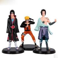 Free Shipping 80sets/lot Japan anime figure Kakashi Naruto toys for boys action & toy figures ( 3 pices /set)