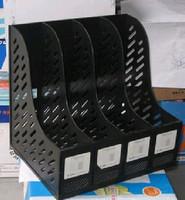 Zl-7004 file box bookshelf 4-in-1 triple file column file holder data rack magazine rack
