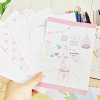 Korea stationery romantic letter pad set 6