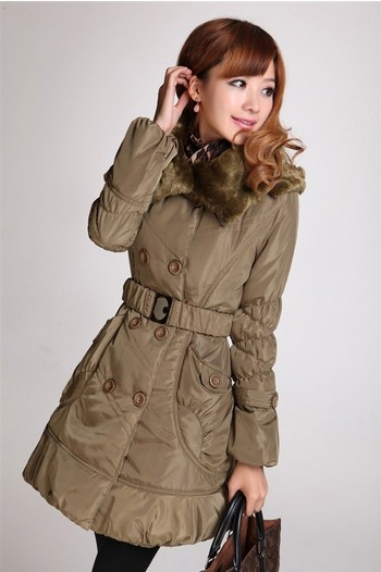 Free shipping winter new lady big yards cotton-padded jacket coat of cultivate one's morality M-2XL(China (Mainland))
