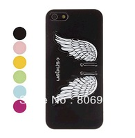Angel's Wings Design High Quality Hard Case with Stand for iPhone 5 (Assorted Colors)