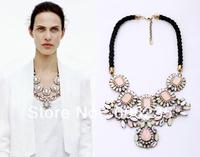 Wedding dresses luxury high quality sparkling chunky big flower Chunky Necklace