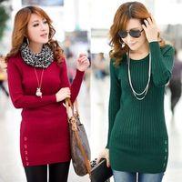 Free Shipping 2013    2  fashion women's elastic slim medium-long basic knitted sweater