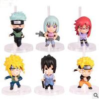 Free shipping 100sets/lot Naruto figures 6pcs set Japan Anime Toys NEW HOT