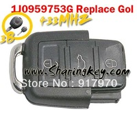 Free shipping   VW 3 Button Remote Replace Gol Horse Head Remote Control
