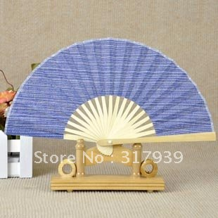 [I AM YOUR FANS]Free Shipping 5pcs/lot Top quality hand fan for kids Mini size blue green for choice(China (Mainland))