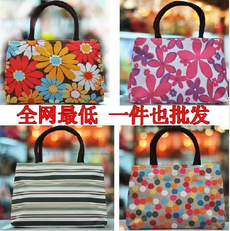 Small fresh women's handbag canvas bag tote bag lunch bag mommas(China (Mainland))