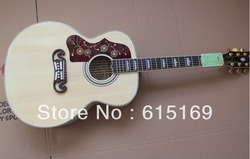 2013 Custom New Arrival Left Hand Spruce Beige J200 6 Strings Electric Acoustic Guitar With Fisherman Pickups Free Shipping(China (Mainland))