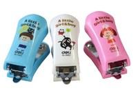 Lackadaisical mini stapler 0302 cartoon type 12 needle 12 paper