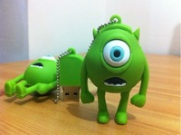 Big Green Eyes USB Flash Memory Pen Drive Stick, free shipping 16GB 32GB 64GB 128GB Ub42