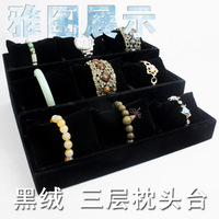 wholesale and retail Black velvet pillow accessories jewelry props bracelet watch bracelet multifunctional