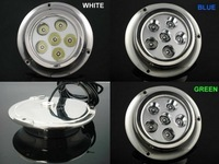 RED!2pcs/lot!  Free shipping! 6W , Surface Mount, Underwater Yacht Boat Marine LED Light; IP68