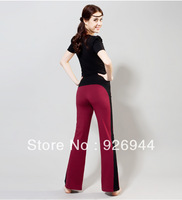 Women Lady Cotton Yoga Sport  GYM Long Pants Trousers Slim female fitness dance practice pants 4sizes~l.xl,xxl,xxxl