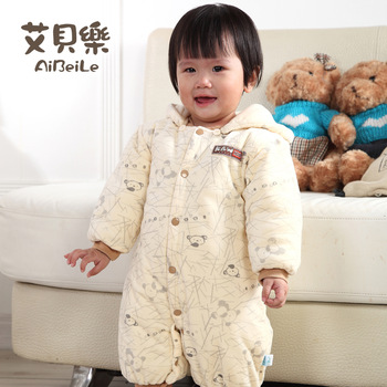 Abe 3-18m male baby bodysuit romper newborn romper 100% cotton autumn and winter