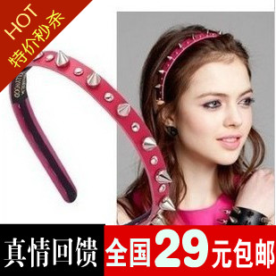 Dream f62575 high2 t-ara punk rivets rivet hair bands headband(China (Mainland))