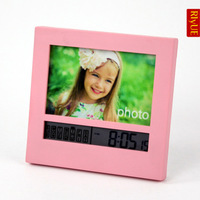 New arrival photo frame alarm clock ofhead lcd electronic alarm clock personalized clip clock 18