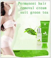 Permanent hair removal kits dew LanJiNa green tea = anti-allergic depilate cream 60 g + hair repair 30 ml of liquid