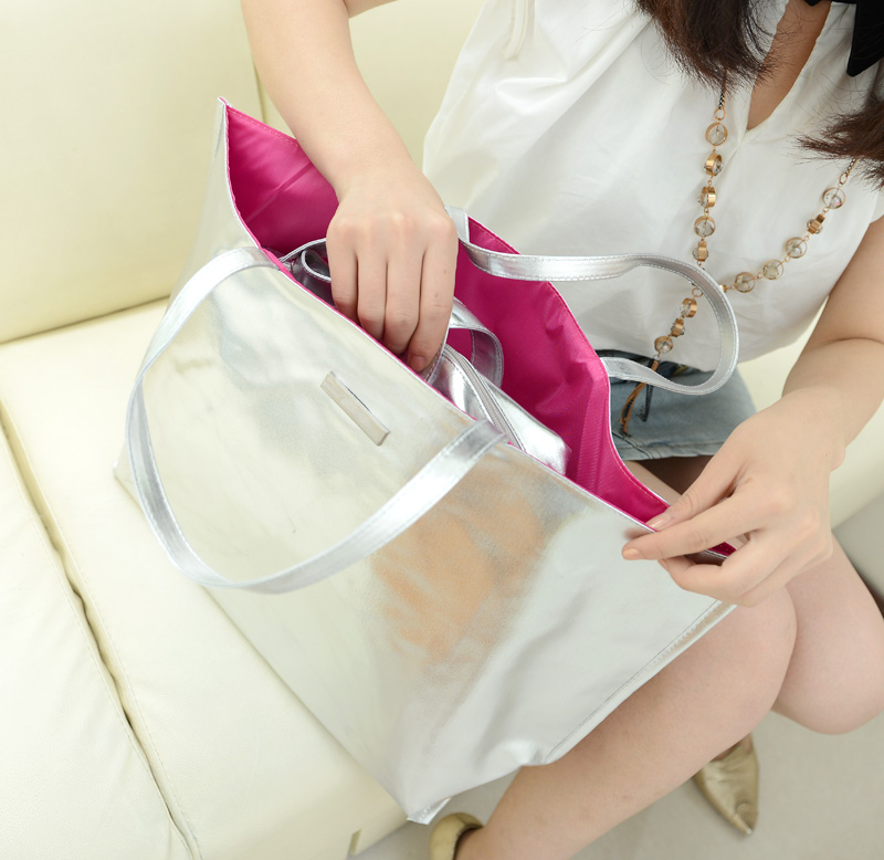 Glossy women's 2013 handbag picture package liner bag big bags solid color bag handbag FREE SHIPPING(China (Mainland))