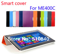 2013 New Fashion Smart Cover Folio Stand Leather Case Cover For Asus VivoTab Smart PC ME400C 10.1' Tablet +Free Shipping