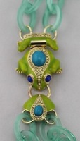 2013 Brand New Designer Inspired Cute Frog Clasp Double-Strand Resin Link Necklace j.e.w.e.l crew