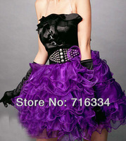 Fashion Purple Tutu SKirt, Corset  Matching Tutu Skirt
