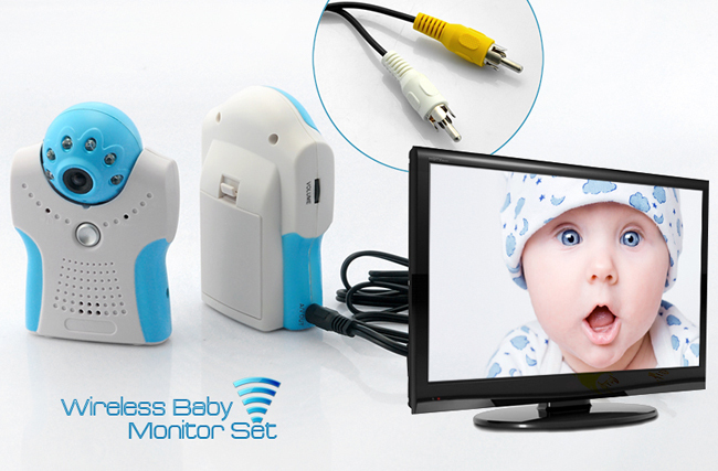 HK post free shipping Nice Design 1.5 inch TFT LCD 2.4G Wireless Baby Monitor with Night Vision, Voice Control, AV OUT(China (Mainland))