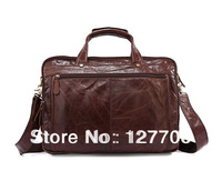 Hot Selling Real Leather  Men's Briefcase Handbag Mens Leather Messenger Bag 7146C
