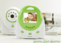 Factory Free shipping dropship,Lovely  Design 1.5 Inch wireless Baby Monitor with Night Vision,Voice Control,AV out