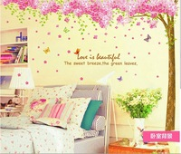 Butterfly Quote Tree Flower Wall Art Decal Removable Nursery Kids Stickers home Decor Deco Vinyl Art  large Children Girl room