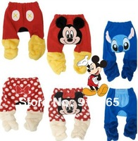 Cartoon winter coral fleece baby pants children's sport pants sweatpants kid trousers,free shipping