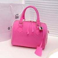 2013 jelly bag candy color candy bag new arrival translucent women's handbag summer handbag