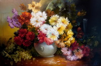 Frameless    digital oil painting diy flower angering 40 50  acrylic painting painting by numbers kits unique gift home decor