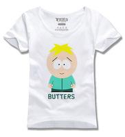 cartoon south park - butters worsted 100% cotton t-shirt men & women plus size XXXL Short sleeve T-shirt Free shipping
