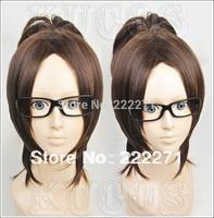 FREE SHIPPING Anime Attack on Titan Shingeki no Kyojin Hanji Zoe Brown Cosplay Wig  Heat Resistant  Cap
